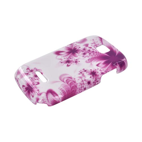 Motorola Theory Hard Case - Magenta/ Purple Flowers on White