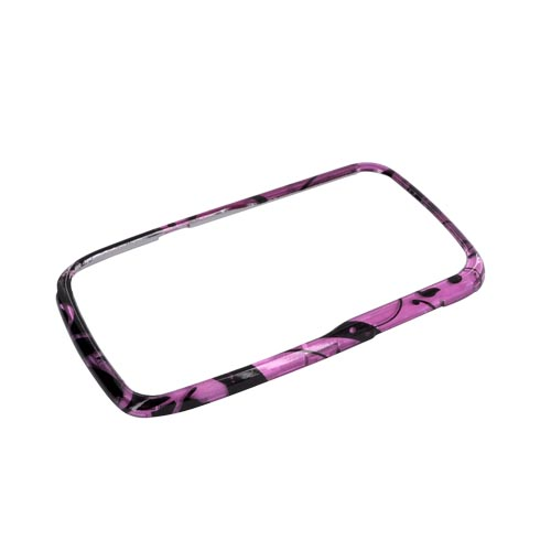 Motorola Theory Hard Case - Black Swirls Design on Purple
