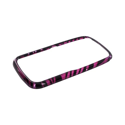 Motorola Theory Hard Case - Purple/ Black Zebra