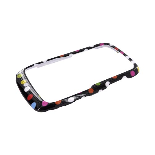 Motorola Theory Hard Case - Rainbow Polka Dots on Black
