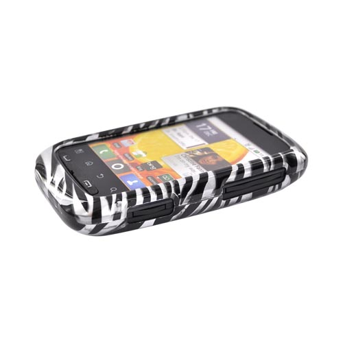 Motorola Citrus WX445 Hard Case - Black Zebra on Silver
