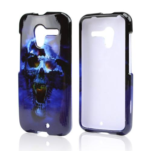 Blue Skull Hard Case for Motorola Moto X (2013 1st Gen)