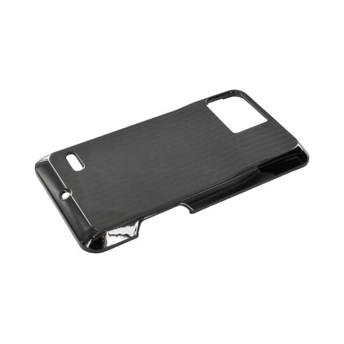Motorola Droid Bionic XT875 Hard Case - Silver Lines on Black