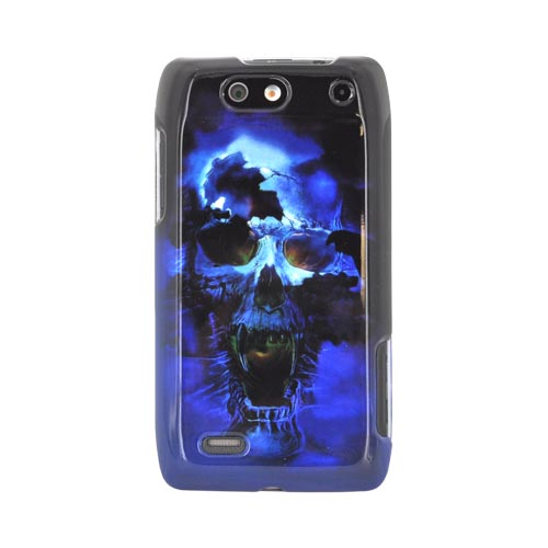 Motorola Droid 4 Hard Case - Blue Skull