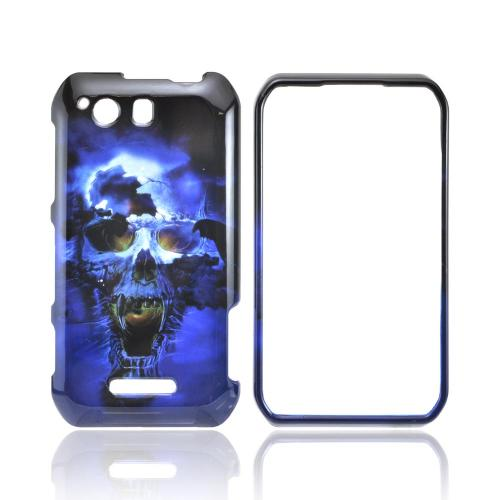 Motorola Photon Q 4G LTE Hard Case - Blue Skull