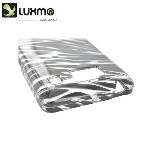 Motorola Droid RAZR HD Hard Case - Silver/ Black Zebra