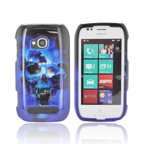 Nokia Lumia 710 Hard Case - Blue Skull