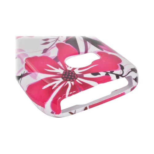Nokia Lumia 710 Hard Case - Pink Flower Splash on White