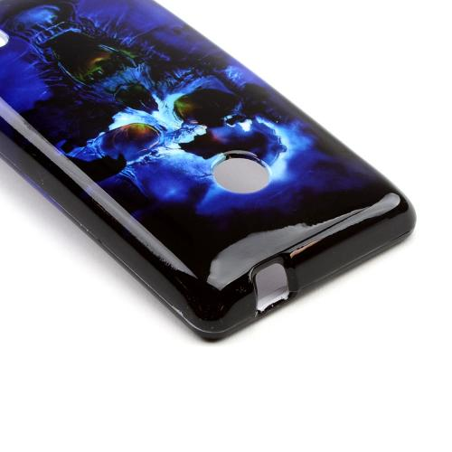 Blue Skull Hard Case for Nokia Lumia 521