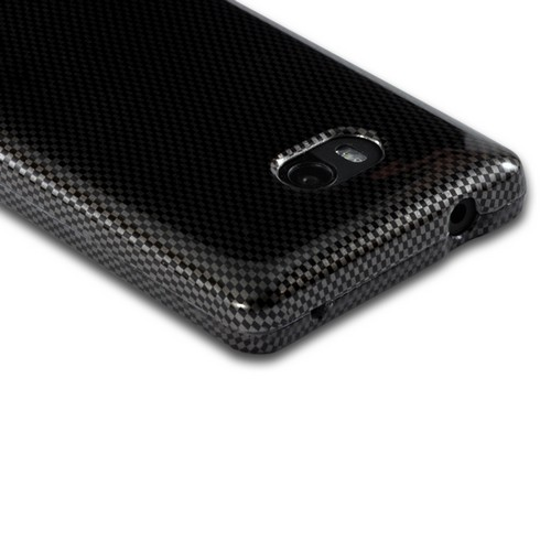 Black/ Gray Carbon Fiber Design Hard Case for Nokia Lumia 810