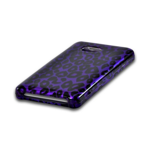 Purple/ Black Leopard Hard Case for Nokia Lumia 810