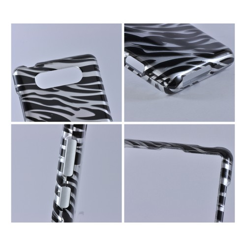 Black/ Silver Zebra Cover Hard Case for Nokia Lumia 820