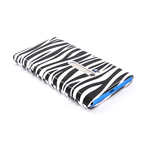 Nokia Lumia 900 Hard Case - Black/ White Zebra