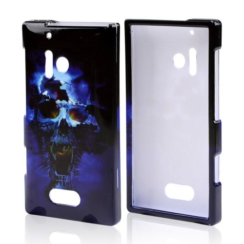 Blue Skull Hard Case for Nokia Lumia 928