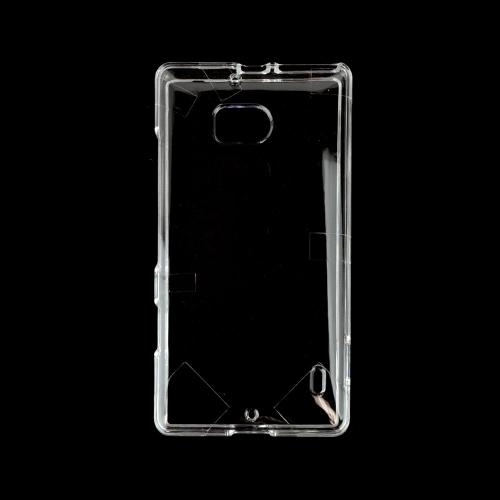 Clear Hard Plastic Case for Nokia Lumia Icon