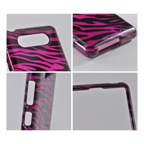 Purple/ Black Zebra Hard Case for Nokia Lumia 820
