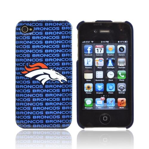 NFL Licensed Apple iPhone 4/4S Hard Case - Denver Broncos