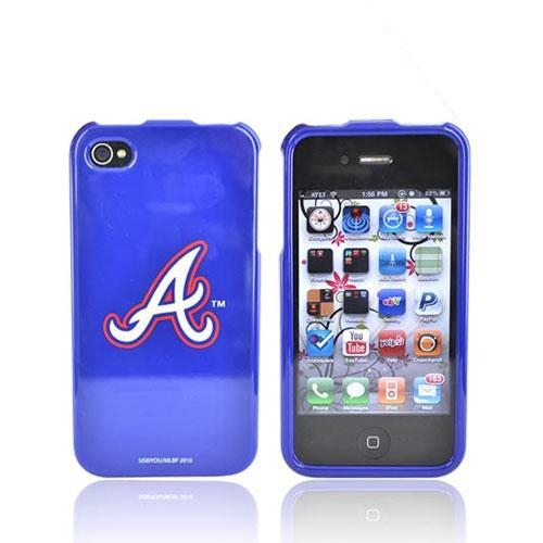 MLB Licensed AT&T/Verizon Apple iPhone 4, iPhone 4S Hard Case - Atlanta Braves