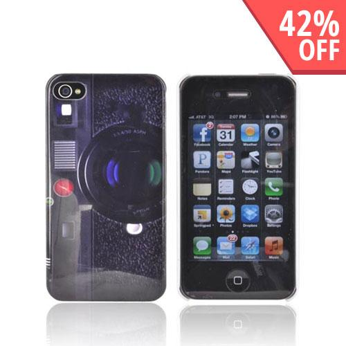 AT&T/ Verizon Apple iPhone 4, iPhone 4S Hard Case - Old-Fashioned Camera - XXIP4