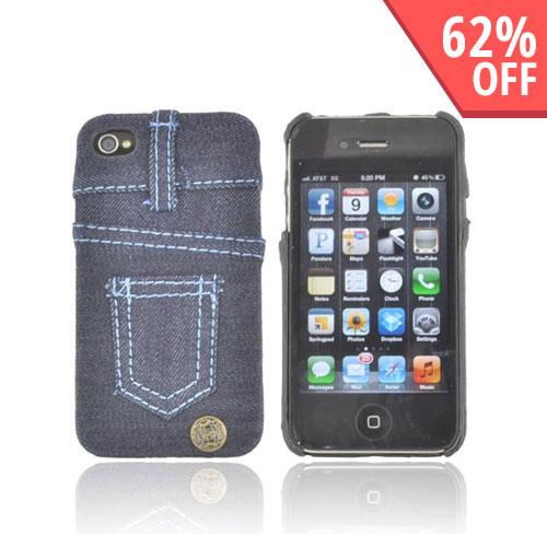 AT&T/ Verizon Apple iPhone 4, iPhone 4S Hard Case - Blue Jeans