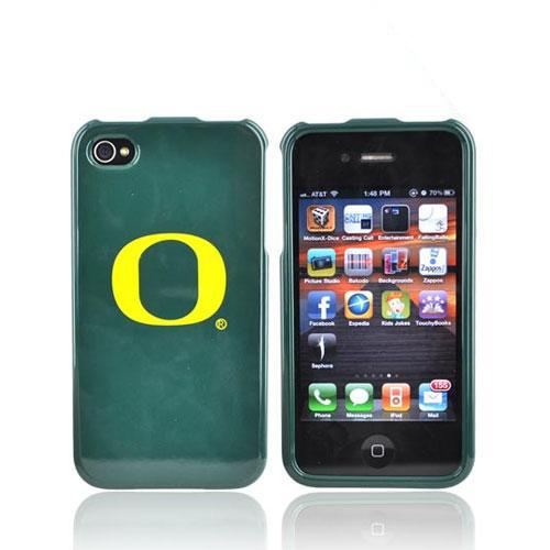 NCAA Licensed Apple Verizon/ AT&T iPhone 4, iPhone 4S Hard Case - Oregon Ducks