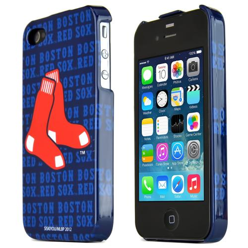 MLB Licensed AT&T/Verizon Apple iPhone 4, iPhone 4S Hard Case - Boston Red Sox