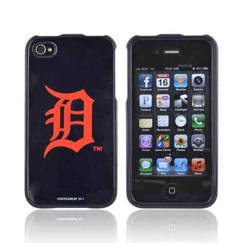 MLB AT&T/ Verizon Apple iPhone 4, iPhone 4S Hard Case - Detroit Tigers