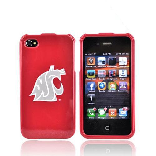 NCAA Licensed Apple Verizon/ AT&T iPhone 4, iPhone 4S Hard Case - Washington State Cougars