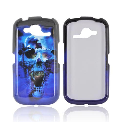 Pantech Burst 9070 Hard Case - Blue Skull