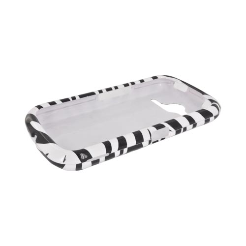 Pantech Burst 9070 Hard Case - White/ Black Zebra
