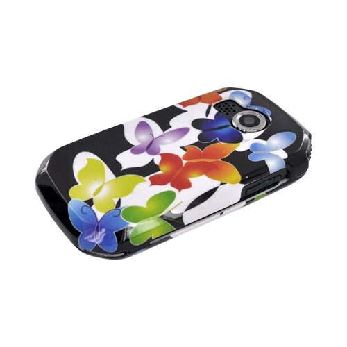Pantech Crossover P8000 Hard Case - Rainbow Butterflies on Black