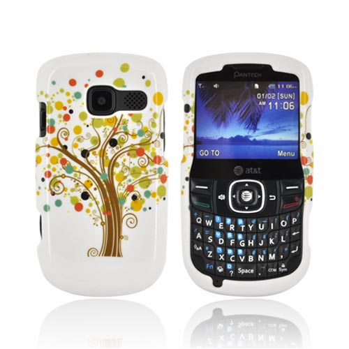 Pantech Link II Hard Case - Tree Design on White