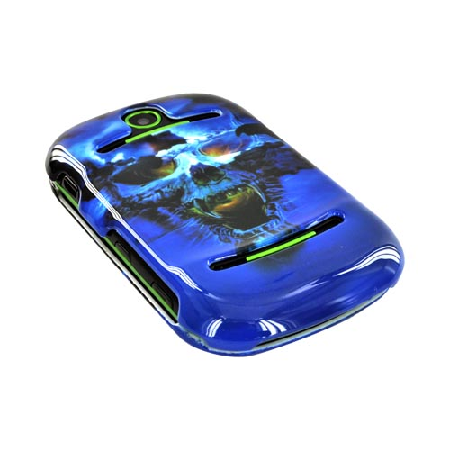 Pantech Pursuit 2 P6010 Hard Case - Blue Skull