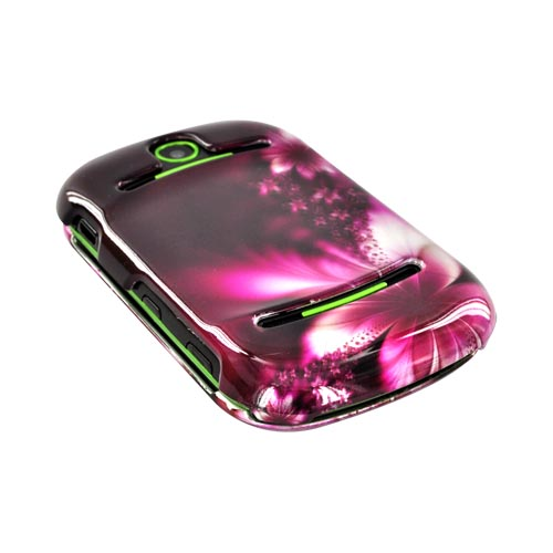 Pantech Pursuit 2 P6010 Hard Case - Pink Flowers on Maroon