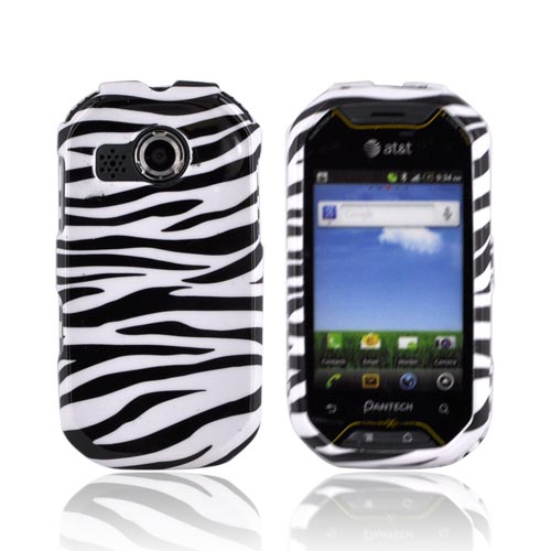 Pantech Crossover P8000 Hard Case - Black/ White Zebra