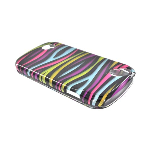 Pantech Laser P9050 Hard Case - Rainbow Zebra on Black
