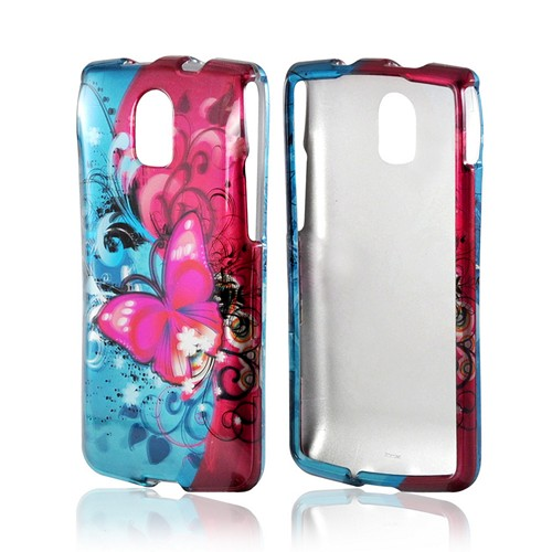 Hot Pink Butterfly Bliss Hard Case for Pantech Discover
