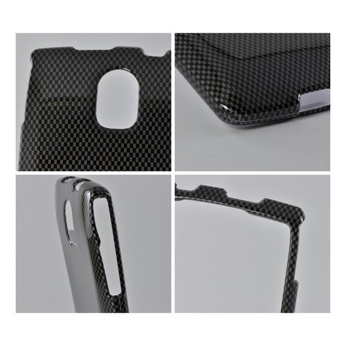 Black/ Gray Carbon Fiber Design Hard Case for Pantech Discover