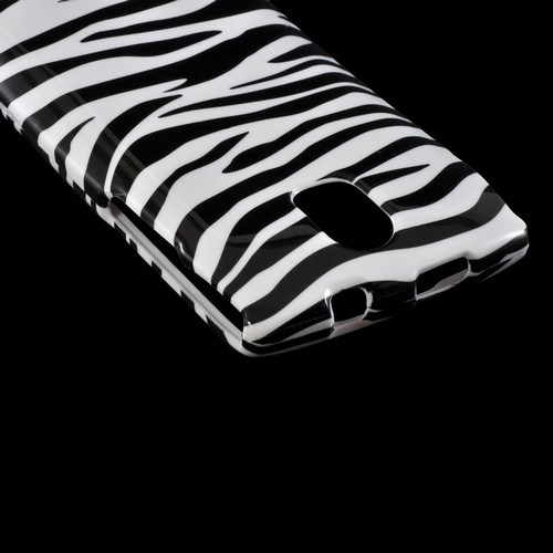 Black/ White Zebra Hard Case for Pantech Discover