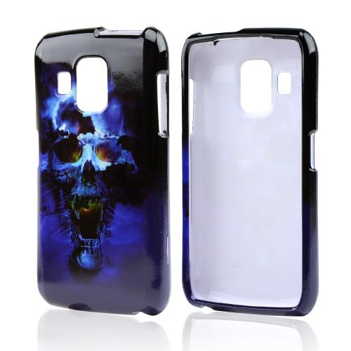 Blue Skull Hard Case for Pantech Perception
