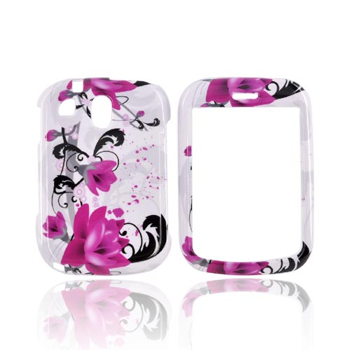 Pantech Jest TXT8040 Hard Case - Pink Flowers on White