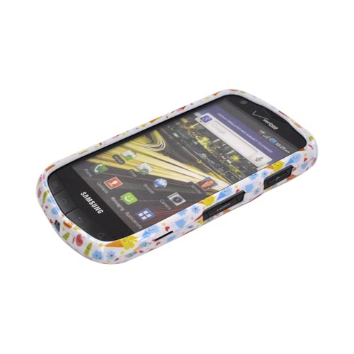 Samsung Droid Charge Hard Case - Colorful Ice Cream Desserts on White