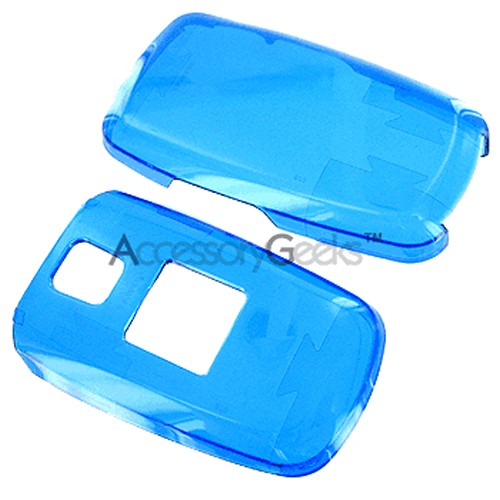 Samsung A870 Protective Hard Case - Transparent Blue
