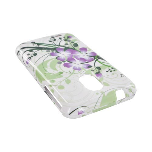 Samsung Epic 4G Touch Hard Case - Purple Lily on Green/ White