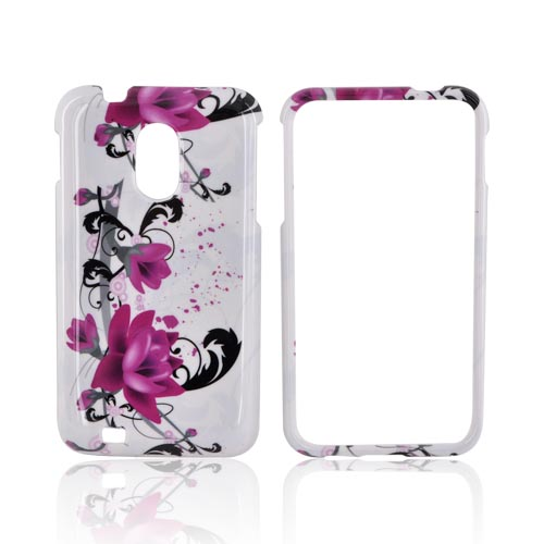 Samsung Epic 4G Touch Hard Case - Pink Flower Splash on White