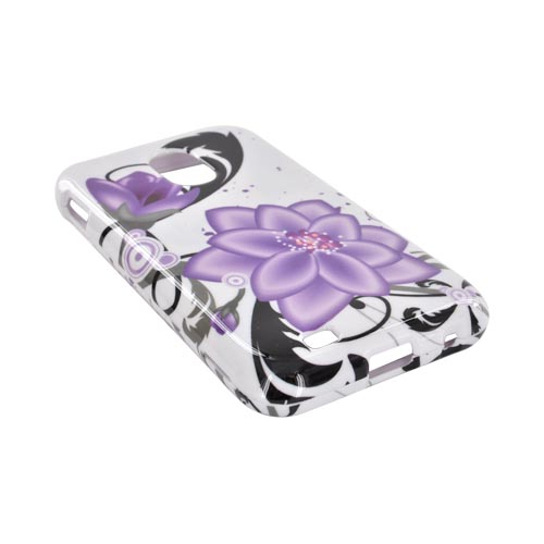 Samsung Epic 4G Touch Hard Case - Purple Lily on White