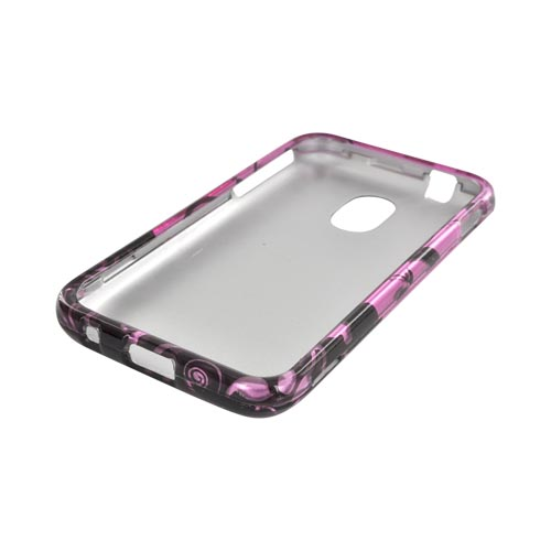 Samsung Epic 4G Touch Hard Case - Black Swirl Design on Purple
