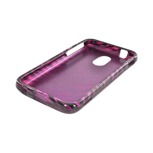Samsung Epic 4G Touch Hard Case - Purple/ Black Zebra