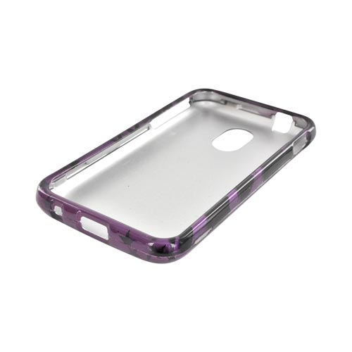 Samsung Epic 4G Touch Hard Case - Black Zebra & Stars on Purple