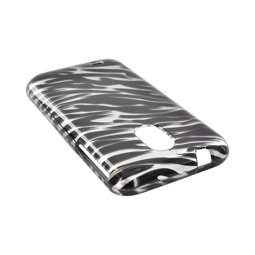 Samsung Epic 4G Touch Hard Case - Black Zebra on Silver